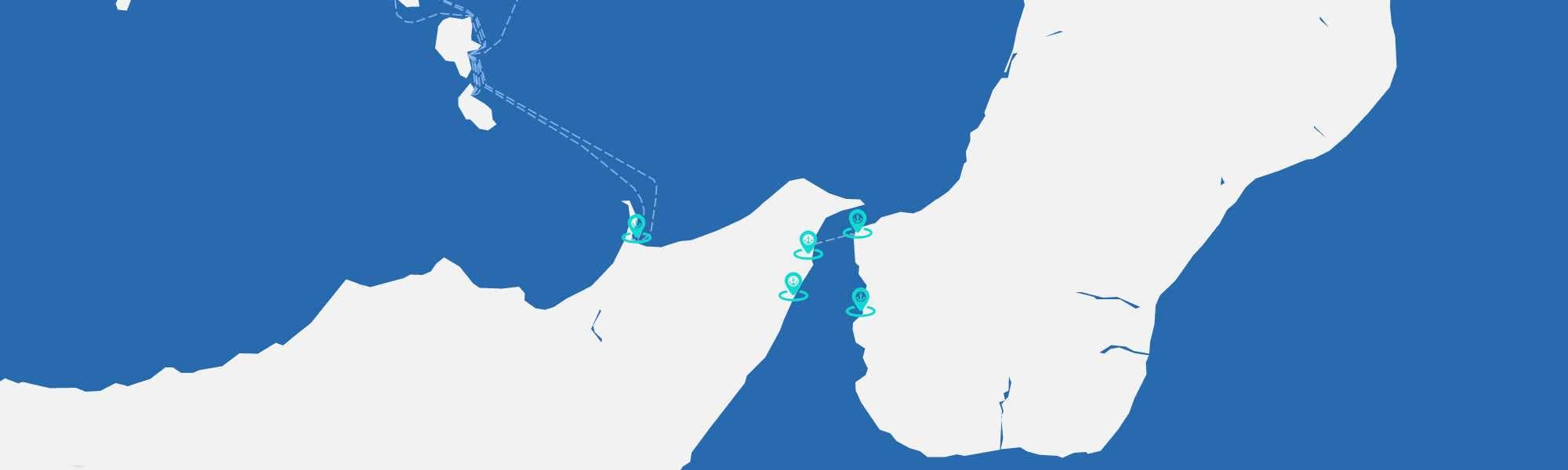 immagine Mappa dei porti dello Stretto